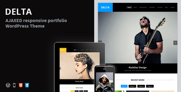 ThemeForest DELTA AJAX Portfolio Responsive WordPress Theme 3157243