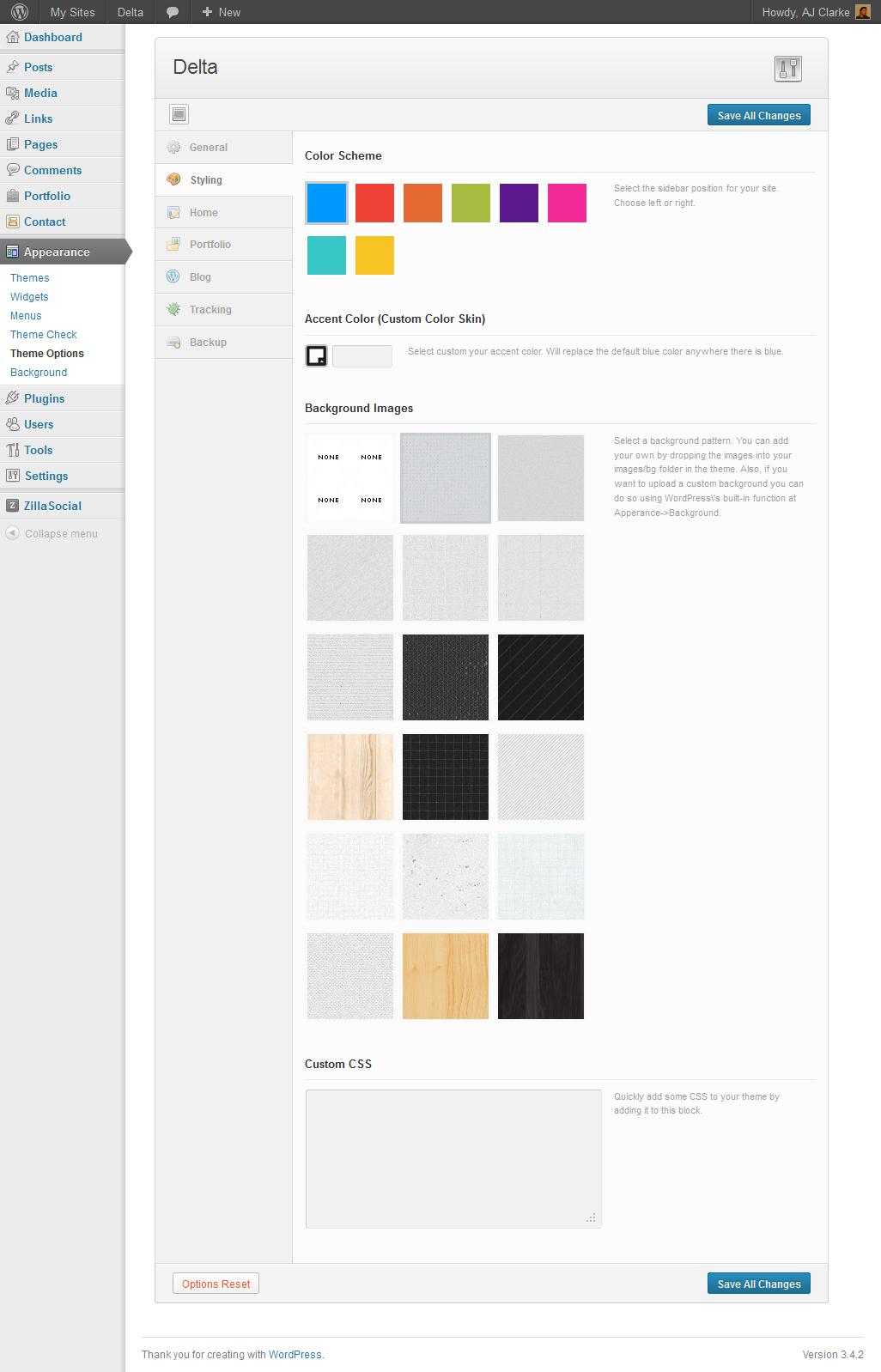 DELTA - AJAX Portfolio Responsive WordPress Theme