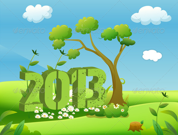 GraphicRiver 2013 Year in Green Landscape 3158270