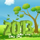 2013 Year in Green Landscape - GraphicRiver Item for Sale