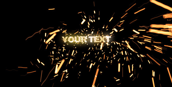 VideoHive Text Sparks 3158347