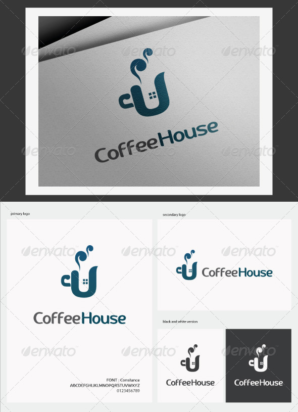 GraphicRiver Coffee House Logo 3152186