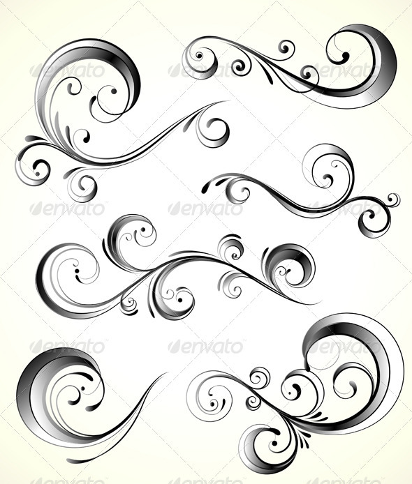 GraphicRiver Floral Elements 3158427