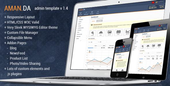 ThemeForest Amanda Responsive Admin Template 2694429