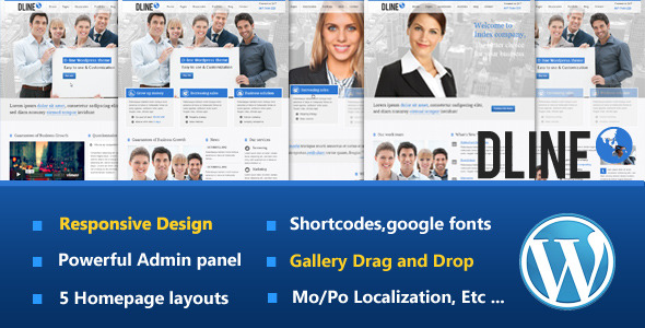 D-Line Responsive WordPress Theme