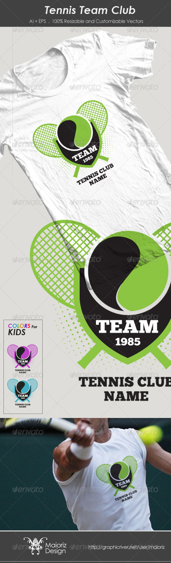 Tennis Team Club Tshirt - Sports & Teams T-Shirts