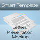 Letters Presentation Mockup - GraphicRiver Item for Sale