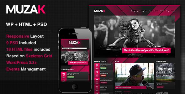 Muzak - Music Premium WordPress theme