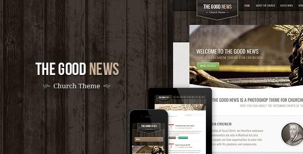 ThemeForest The Good News Responsive Church HTML Theme 3161176