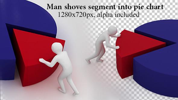 Man Shoves Segment Into Pie Chart