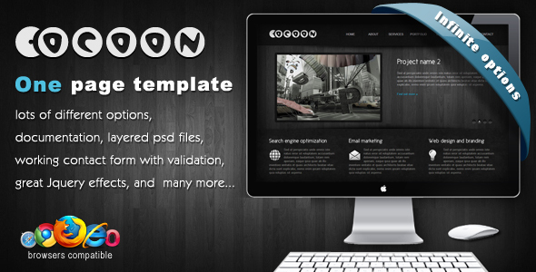 Cocoon - One Page Template - Corporate Site Templates