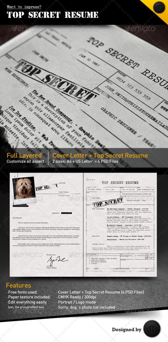 Top Secret Resume CV