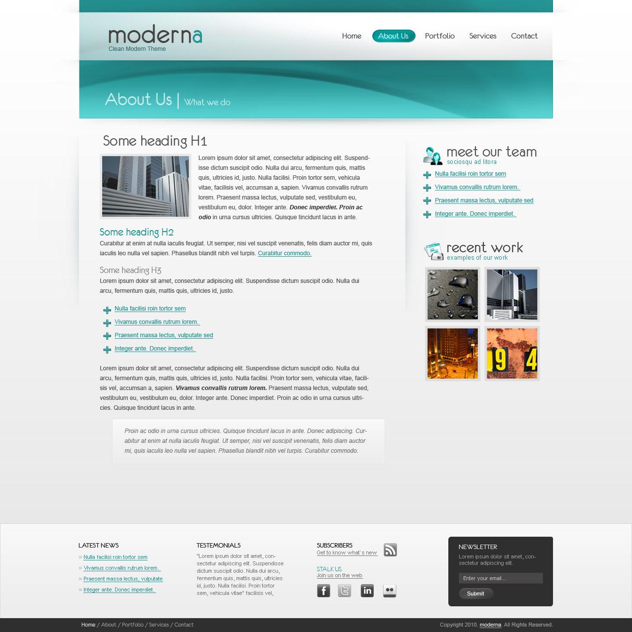 Moderna HTML Template - Web, Software, Hosting