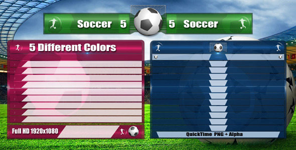 Soccer Lower Third Pack