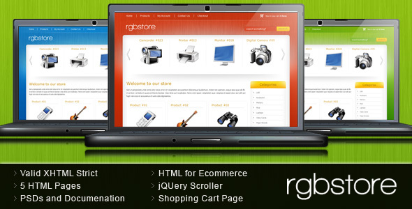 ThemeForest RGBStore Ecommerce HTML Template 67270