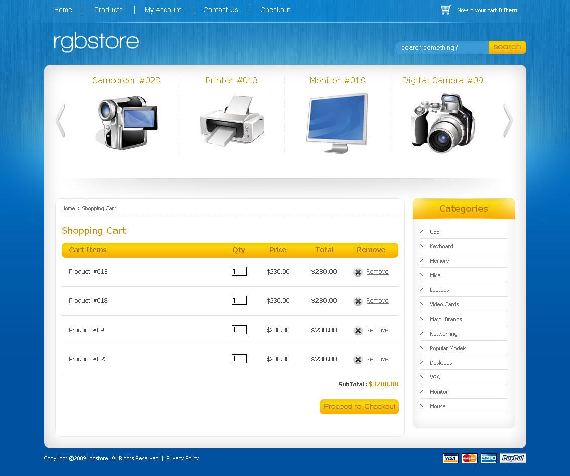 Exelent Shopping Cart Template Html Frieze - Resume Ideas - namanasa.com