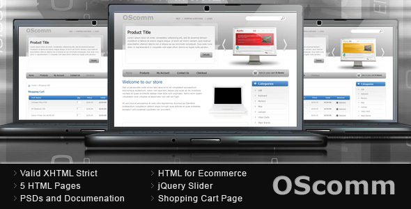 OScomm E-commerce Template - Shopping Retail
