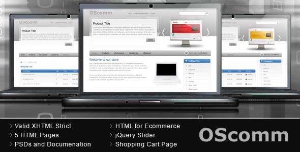 ThemeForest OScomm E-commerce Template 58903
