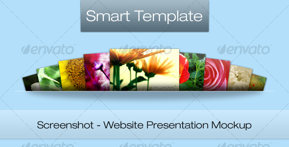 Screenshot - Web Presentation Mockup - Website Displays