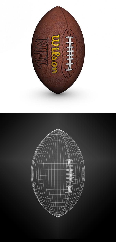 American Football - 3DOcean Item for Sale