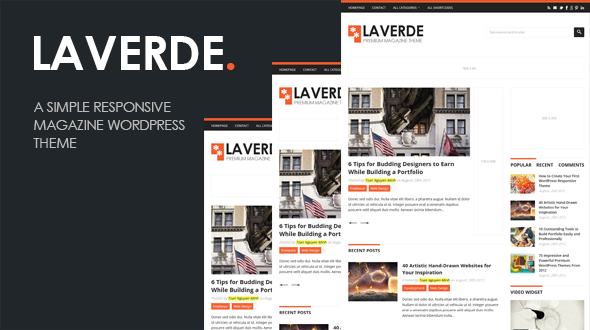 ThemeForest Laverde A Responsive Magazine WordPress Theme 3163488