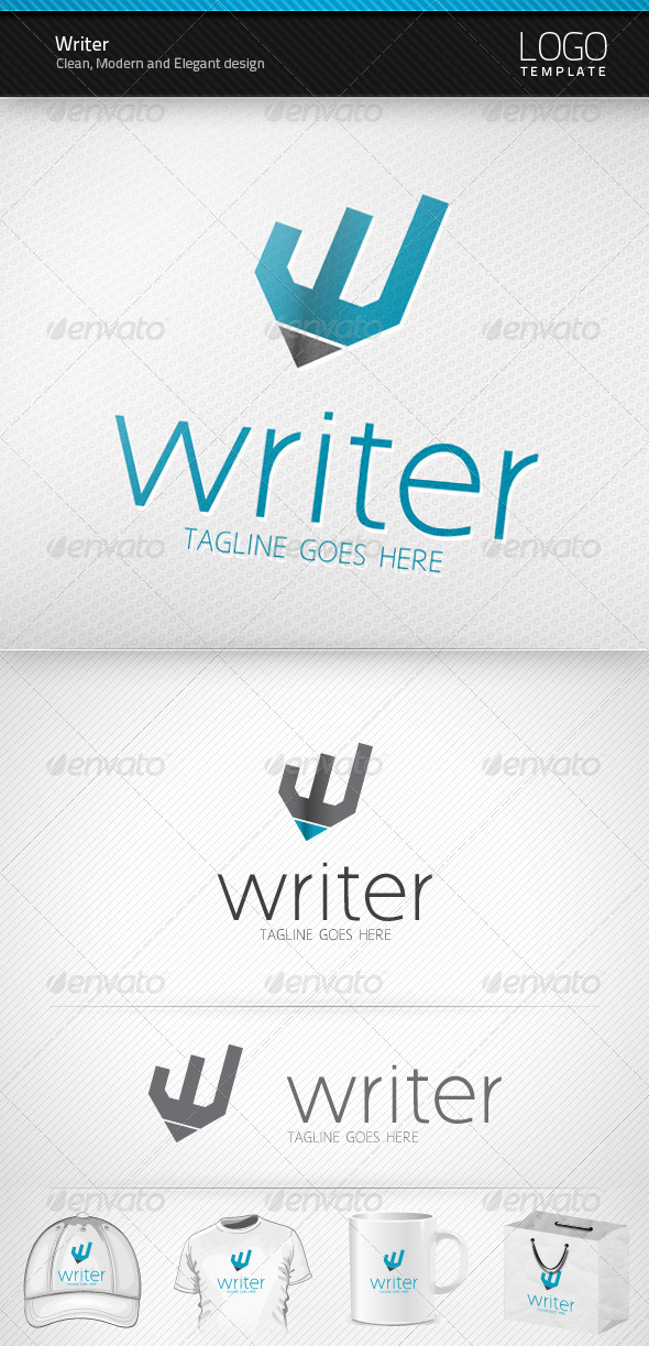 Writer Logo - Objects Logo Templates