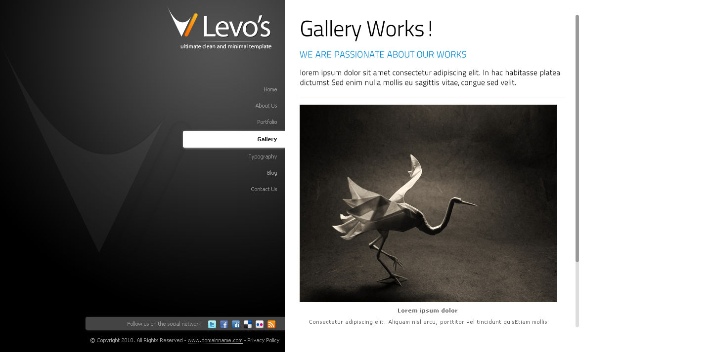 Levos Clean and Minimal HTML/CSS Template
