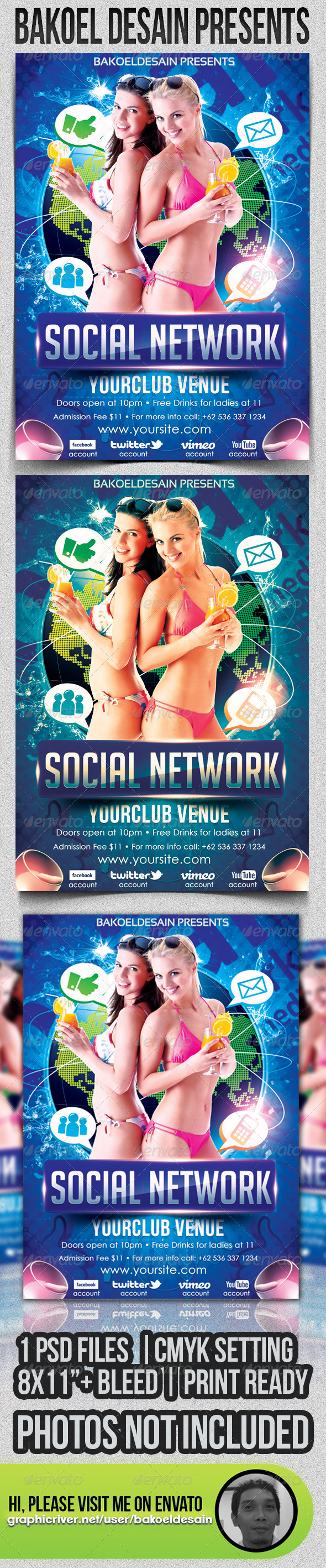 Social Network Party - Clubs & Parties Events