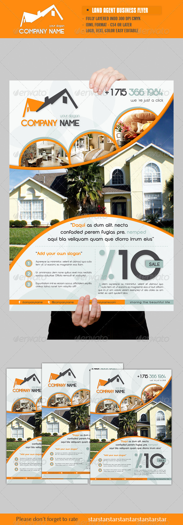 GraphicRiver Land Agent Business Flyer 2922593