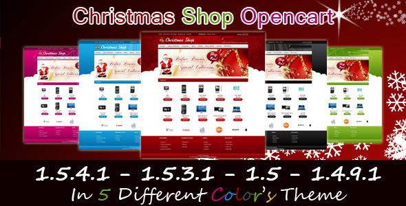 ThemeForest Christmas Shop Opencart Template 141669