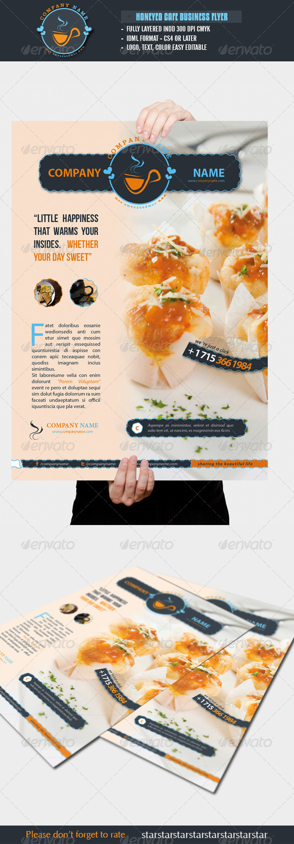 Honeyed Cafe Flyer - Restaurant Flyers
