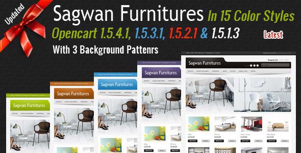 ThemeForest Sagwan Furniture s Opencart Theme 1512979