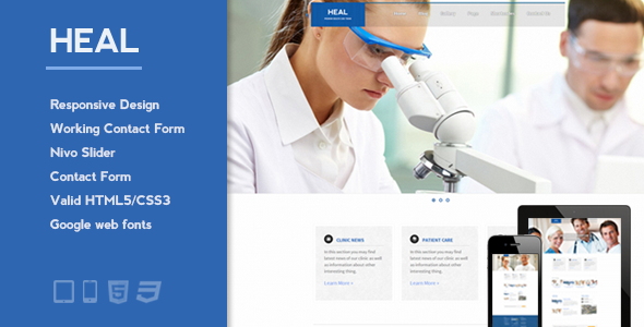 ThemeForest Heal Responsive Medical and Health HTML Template 2890724