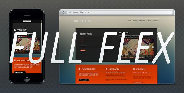 FULL FLEX - Fully Responsive HTML5 Landing Page
