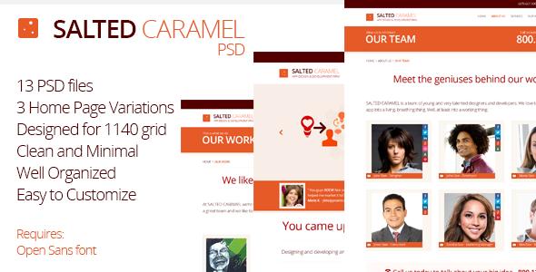 Salted Caramel - Minimal PSD Theme