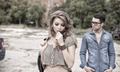 Sexy and fashionable couple wearing jeans, shoot in a grungy location - landscape orientation - PhotoDune Item for Sale