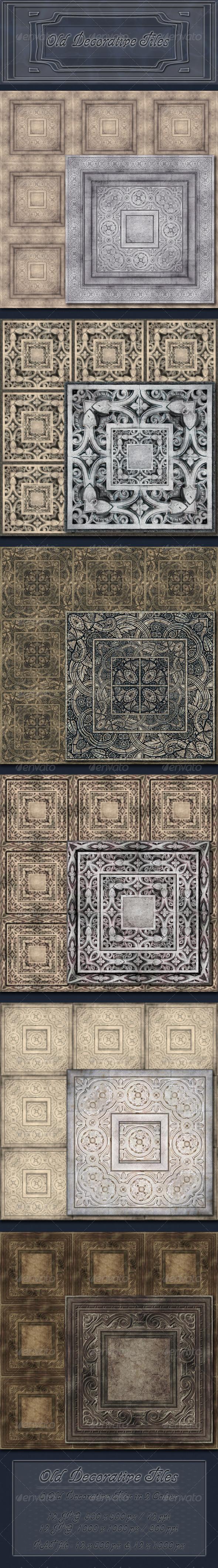 Old Decorative Tiles - Miscellaneous Textures / Fills / Patterns