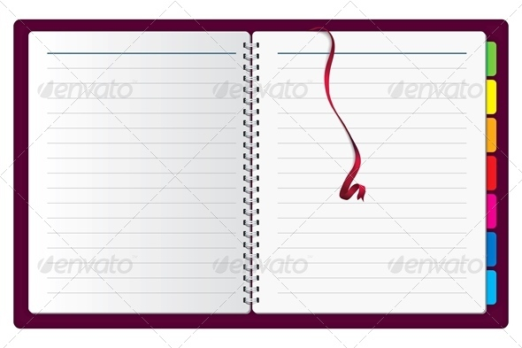 Vector Spiral Notepad
