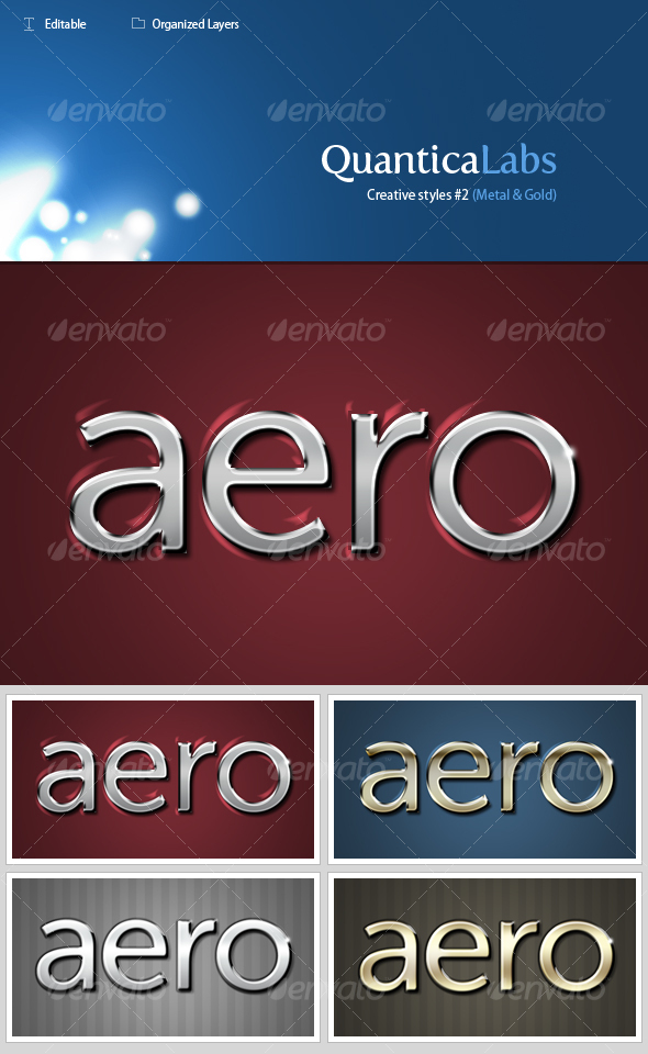 Metal and Gold styles #2 - Text Effects Styles