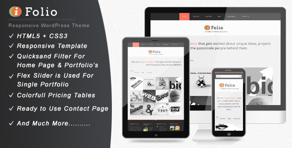 ThemeForest iFolio Clean WordPress CMS Portfolio Theme 3166326