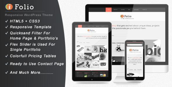 ThemeForest iFolio Clean WordPress CMS Portfolio Theme 3166326