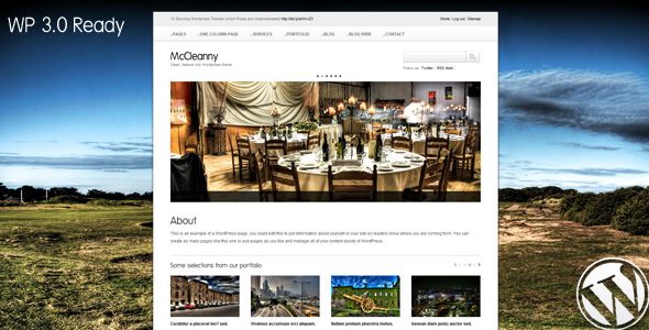 McCleanny - Wordpress 3.0 ready theme