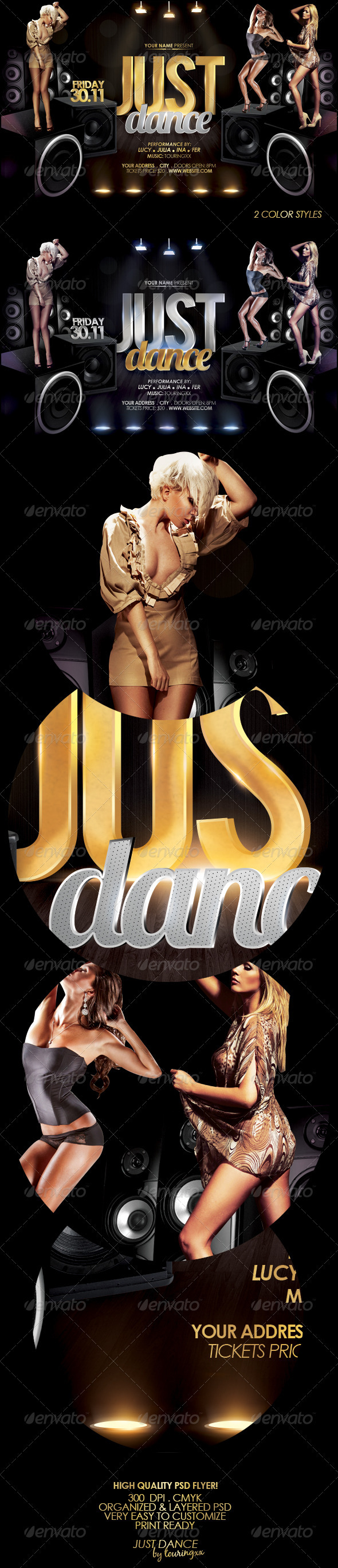 Just Dance Flyer Template - Clubs & Parties Events