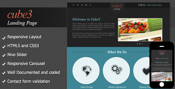 Cube3 Landing Page