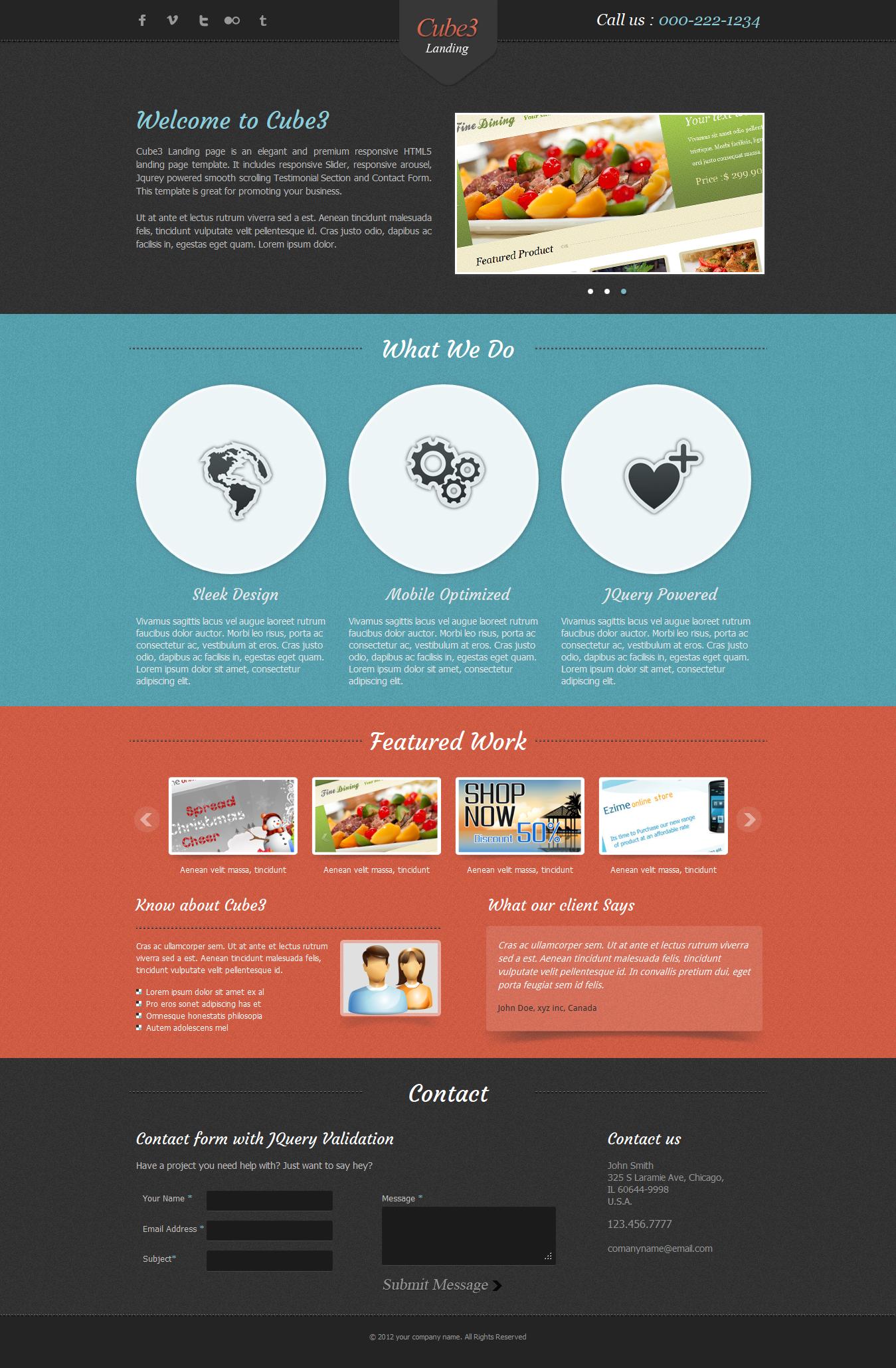 Cube3 Landing Page By Bluenila Themeforest