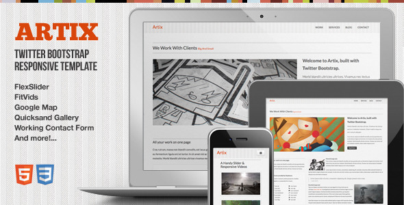 ThemeForest Artix One Page Responsive Bootstrap Template 3152958
