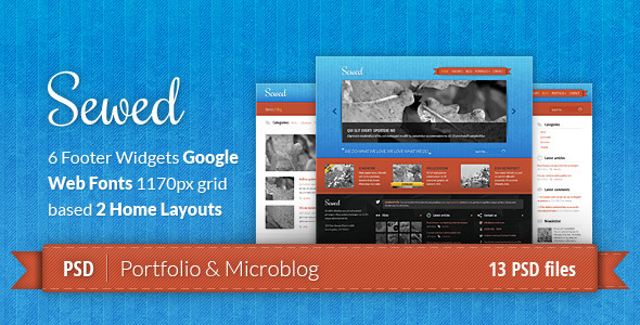 Sewed - Portfolio and Microblog