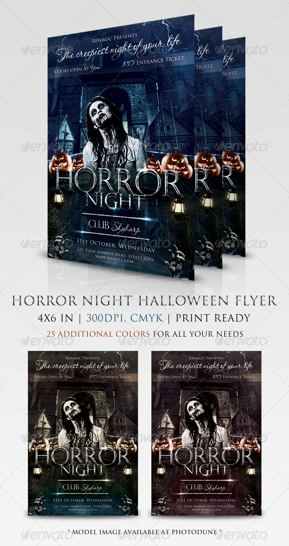 GraphicRiver Horror Night Flyer 3168293