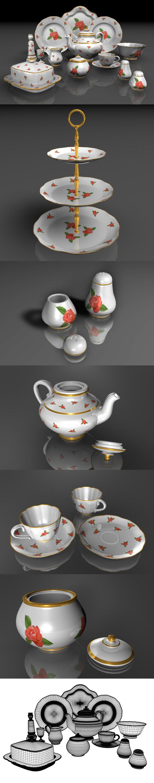 3DOcean Porcelain Set 111869