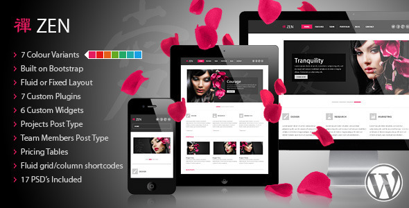 ZEN Responsive WordPress Theme - Portfolio Creative